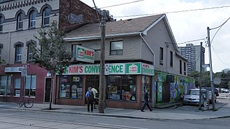 Kim's Convenience (TV series) - An existing convenience store in Toronto, Mimi's Convenience Store, was redesigned to stand in for exterior shots in the show.