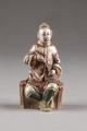 Kinesisk figur med konisk mössa av Pekingmodell - Hallwylska museet - 95989.tif