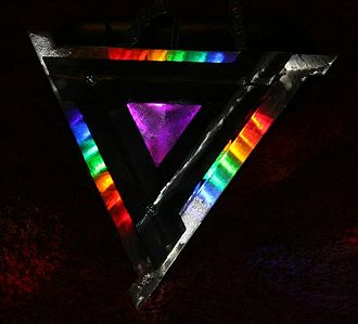 LED art - Sculpture in which LEDs are integrated within steel artwork