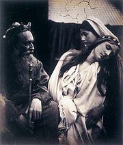 King Ahasuerus & Queen Esther in Apocrypha, by Julia Margaret Cameron