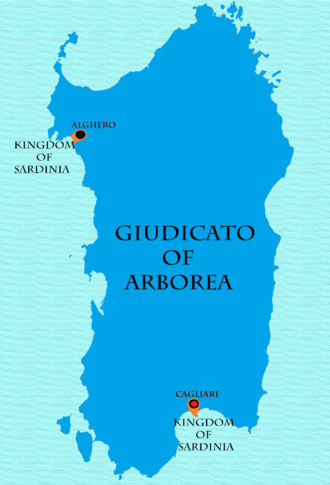 Giudicato of Arborea - Giudicato of Arborea between 1368-1388 and 1392-1409