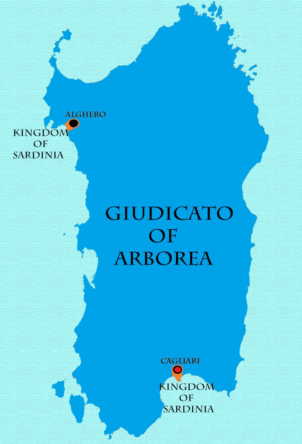 Kingdom of Sardinia 1368-1388 -- 1392-1409