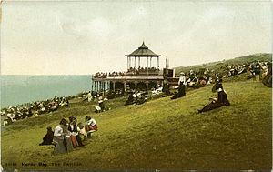 King's Hall, Herne Bay - Pavilion on steep slope, 1904–1912