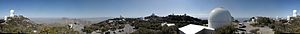 Kitt Peak National Observatory - Image: Kitt Peak National Observatory 380° panorama taken from behind the Warner & Swasey Observatory