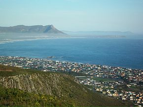 Kleinmond from mountains
