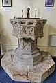 Knaith, St Mary's church, Font (34897285201).jpg