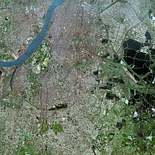 Satellite view of Kolkata