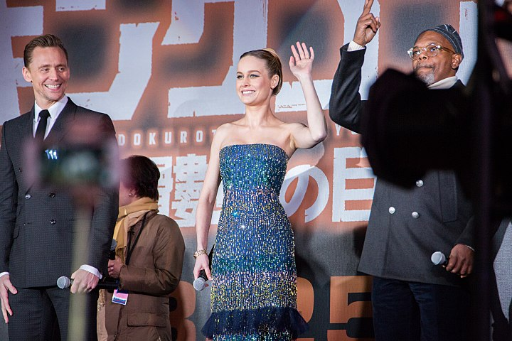 Kong- Skull Island Japan Premiere Red Carpet- Tom Hiddleston, Brie Larson & Samuel L. Jackson (37024511470).jpg