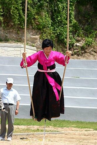 Dano (Korean festival) - Korea Andong Dano Festival Swinging