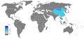 Korean Wikipedia page view ratio by country 201101-201112.png