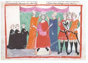 Manfred, King of Sicily - Coronation of Manfred at Palermo, 1258