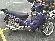 Modenas Kriss underbone motorcycle.