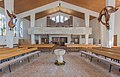 Krumpendorf Pfarrkirche hl Georg Taufbecken Orgelgalerie 08062015 4553.jpg