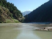 Kunhar river in Naran valley of Pakistan.jpg