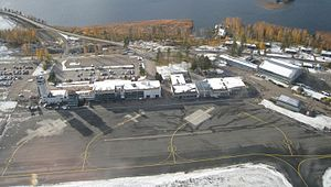 Kuopio Airport - Image: Kuopio airport from air cropped