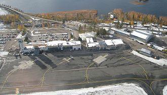 Kuopio Airport - Image: Kuopio airport from air cropped