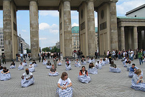 Kurt Fleckenstein - Cleared - at the Brandenburg Gate Berlin – status of asylum seekers in Germany