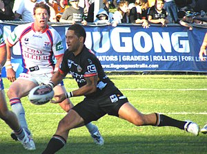Kurt Gidley - Gidley trying to tackle Benji Marshall in 2009