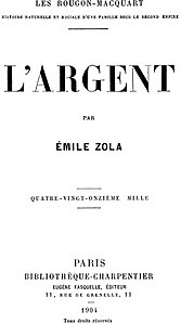 L'Argent by Émile Zola (book cover).jpg