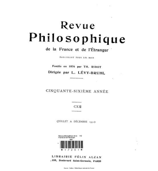 File:Lévy-Bruhl - Revue philosophique de la France et de l'étranger, 112.djvu