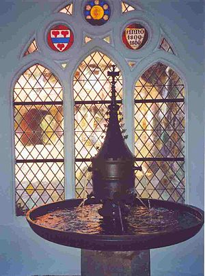 Lüne Abbey - The Handstein Laufbrunnen in the entrance hall