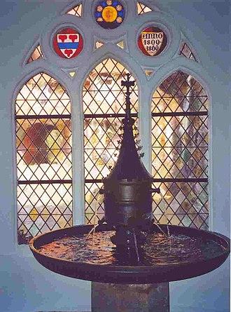 Lüne Abbey - The Handstein Laufbrunnen in the entrance hall