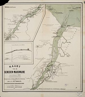 Maroni (river) - Map of the Maroni River from 1896.