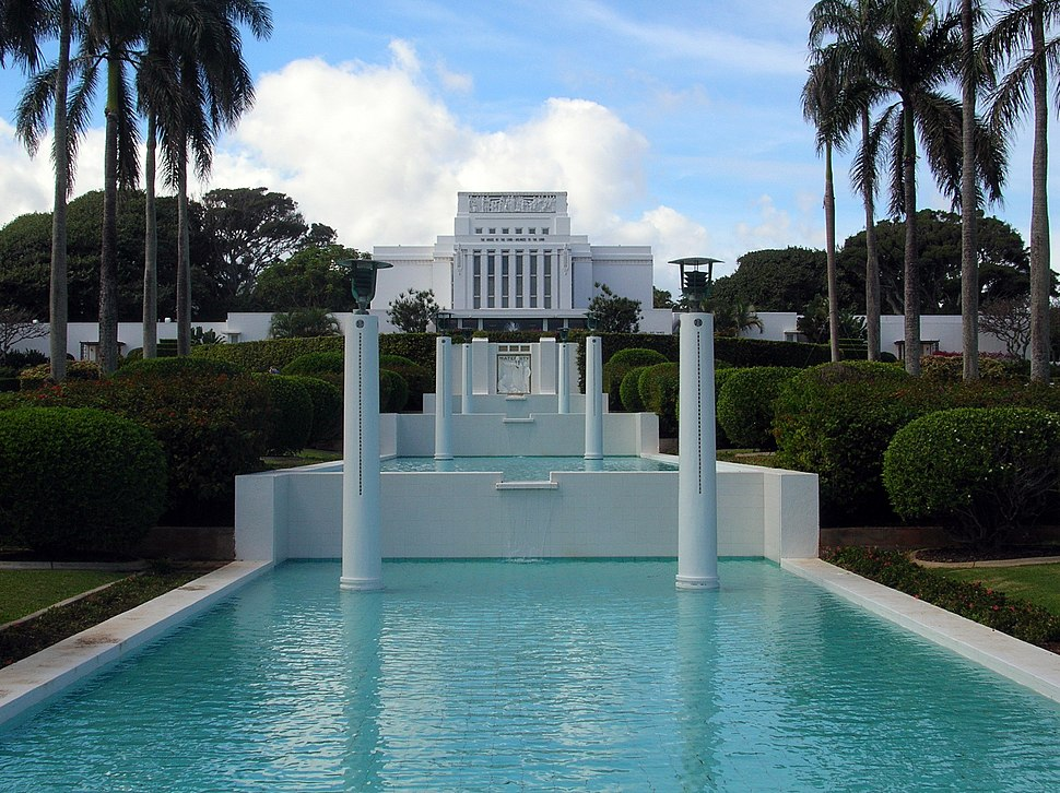 LDS Laie Hawaii Temple front view