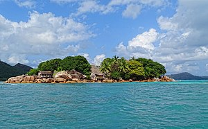 Granitic Seychelles - The small granitic island of Chauve Souris