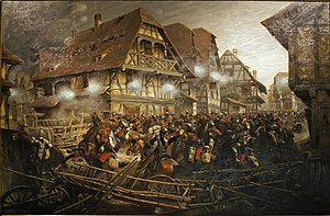Battle of Wörth - French 9th Cuirassiers trapped in Morsbronn-les-Bains.