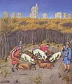 Labors of the months in Tres Riches Heures du Duc de Berry - December.jpg