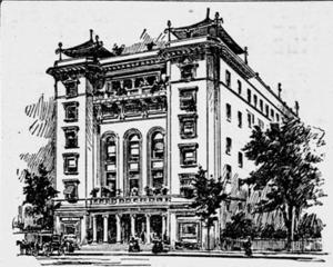 Lafayette Square Opera House - Architect's rendering of the Lafayette Square Opera House
