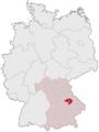 Lage des Landkreises Regensburg in Deutschland.png