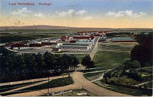 Oflag XIII-B - A postcard view of Lager Hammelburg, 1916
