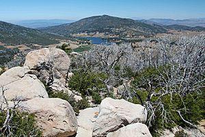 Cuyamaca, California - Lake Cuyamaca seen from Stonewall Peak