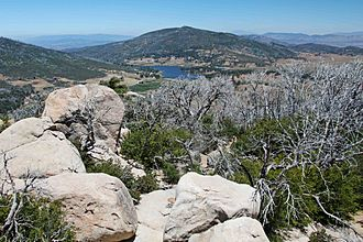 Lake Cuyamaca - Lake Cuyamaca, seen from Stonewall Peak