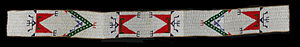 Lakota people - Lakota Beaded Saddle Belt, made c. 1850