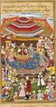 Lal (attr.) Babur makes Humayun his successor in 1530. Akbarnama, 1602-3, f. 53r, British Library, London.jpg