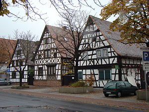 Lampertheim - Lampertheim-Half timbered houses
