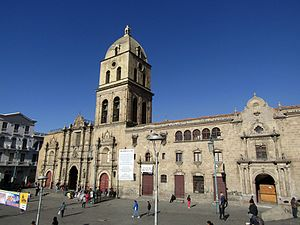 Religion in Bolivia - Image: Lan Paz San Francisco Cathedral