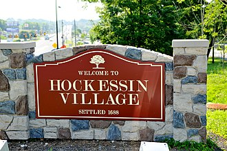 Hockessin, Delaware - Image: Lancaster Pike in Hockessin, facing south