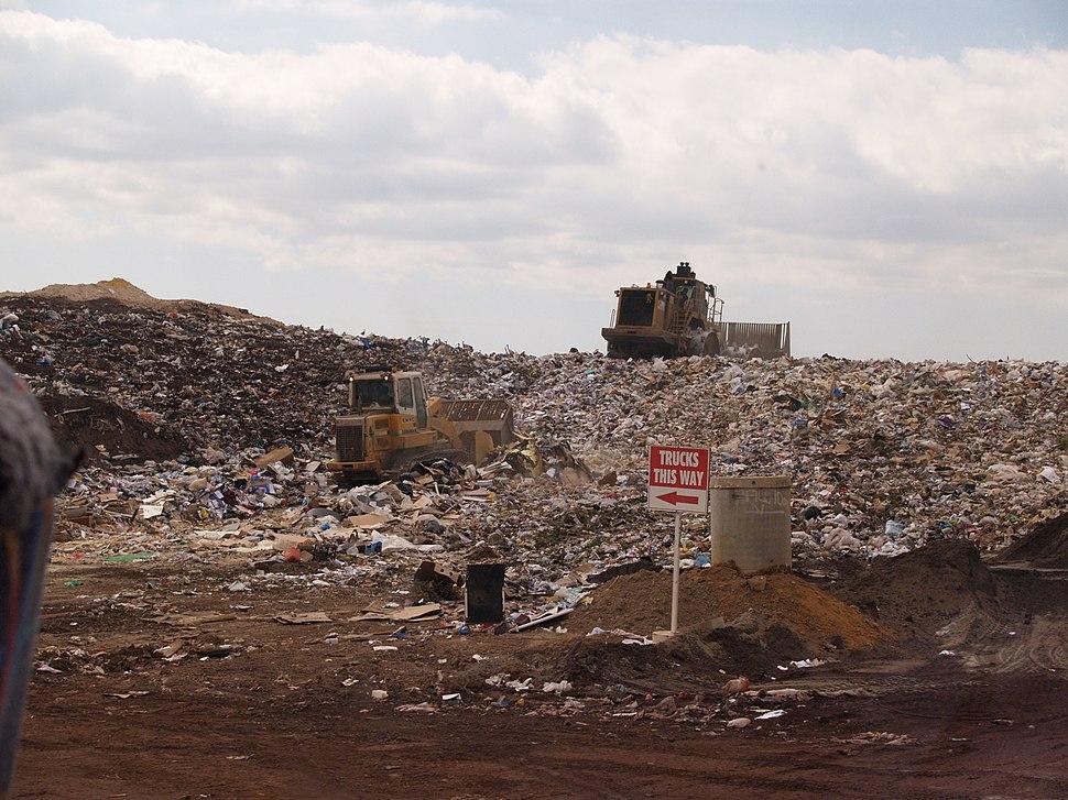 Landfill face