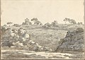 Landscape with a Two-Story Building on a Hill (Smaller Italian Sketchbook, leaf 29 recto) MET DP269438.jpg