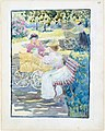 Large Boston Public Garden Sketchbook- Mothers and children in the park MET DT3409.jpg