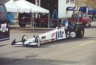 Larry Dixon (dragster driver) - Larry Dixon 2000 Miller Lite dragster