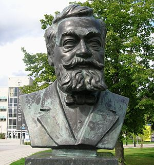 Lars Magnus Ericsson - Bust of L. M. Ericsson at Telefonplan in Stockholm