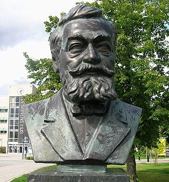 Lars Magnus Ericsson - Bust of L. M. Ericsson at Telefonplan in Stockholm