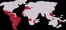 Localização dos países-membros da UL