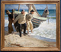 Launching the boat, Skagen, by Oscar Björck, with frame.jpg