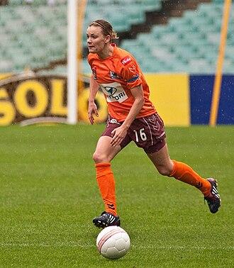 Lauren Colthorpe - Colthorpe playing for Brisbane Roar in 2009